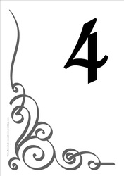 Numbers Templates Free. Wedding Table Numbers Template,Weekly ...
