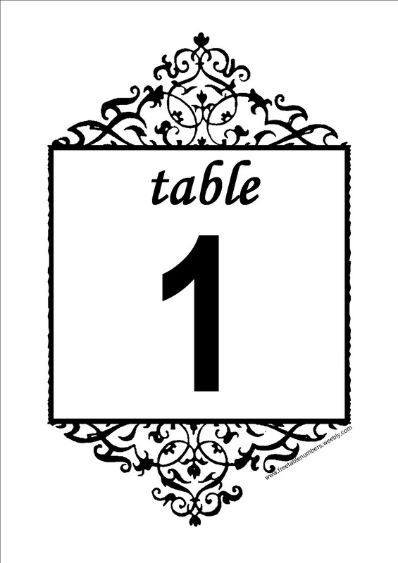 Free Antique printable DIY Wedding Table Numbers - Free Table Numbers