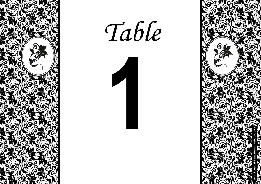 Table Numbers Are An Essential Finishing Touch For The Wedding Reception  Guestsu0027 Tables. FreeTableNumbers Offers A Range Of Free Printable Beautiful  Designs ...  Numbers Templates Free