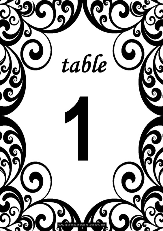 Insane image inside free printable table number
